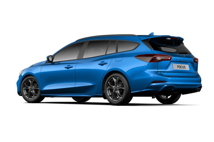 Ford Focus Estate 1.0 T EcoBoost 125PS Titanium X Edition 5Dr Auto [Start Stop] back view