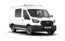 Ford Transit Crew Van 350 L3 2.0 EcoBlue FWD 130PS Leader Crew Van High Roof Auto [Start Stop] [DCiV]